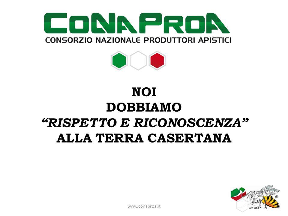 NOI DOBBIAMO RISPETTO E RICONOSCENZA ALLA TERRA CASERTANA www.conaproa.it