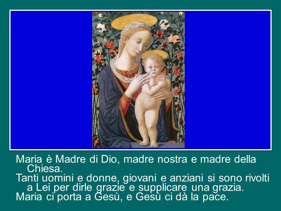 Maria è madre, ci soccorre sempre: quando lavoriamo e quando siamo in cerca di lavoro, quando abbiamo le idee chiare e quando siamo confusi, quando la preghiera sgorga spontanea e quando il cuore è arido: Lei sempre è lì per aiutarci.