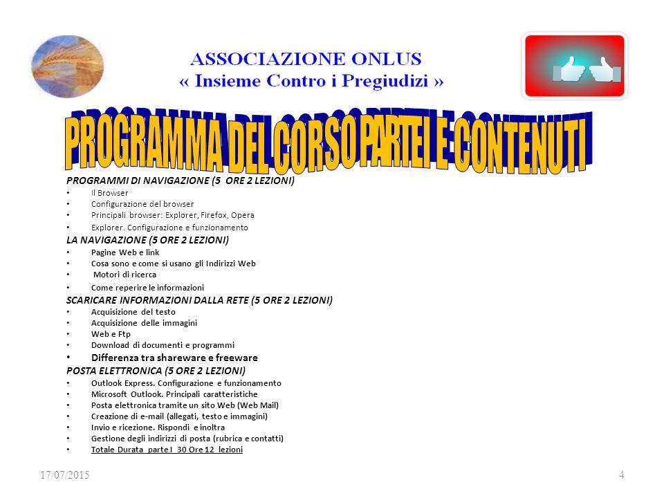 MATERIALE DIDATTICO ON LINE Il materiale didattico sara' disponibile sul sito al link: http://www.controipregiudizi.it/associazione_file/PROGETTO 2 DOCU http://www.controipregiudizi.it/associazione_file/PROGETTO 2 DOCU 17/07/20155