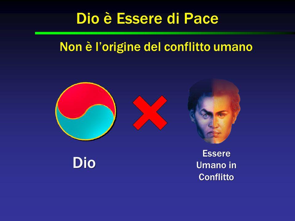 Dio Essere Umano in Conflitto Dio è Essere di Pace Non è l'origine del conflitto umano