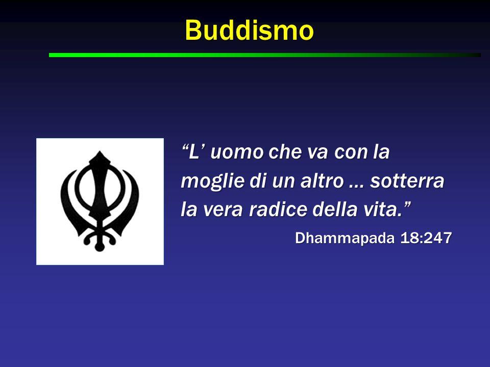 """Buddismo """"L' uomo che va con la moglie di un altro … sotterra la vera radice della vita."""" Dhammapada 18:247"""