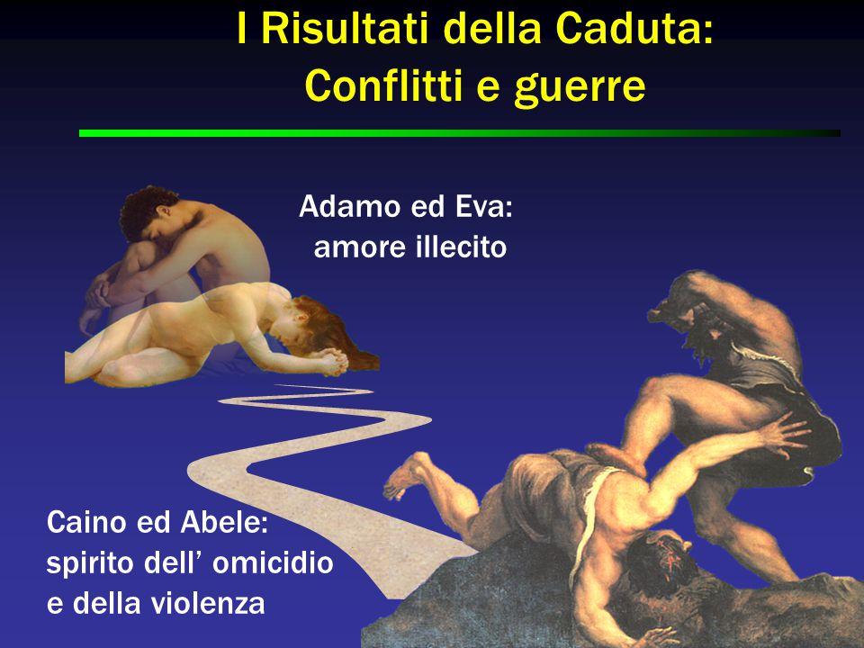 Caino ed Abele: spirito dell' omicidio e della violenza Adamo ed Eva: amore illecito I Risultati della Caduta: Conflitti e guerre