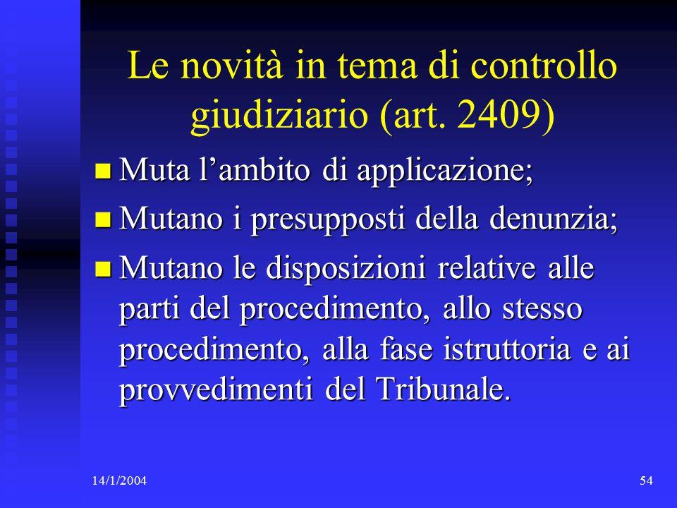 14/1/200454 Le novità in tema di controllo giudiziario (art.