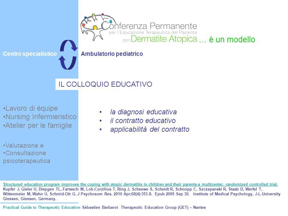 Lavoro di équipe Nursing Infermieristico Atelier per le famiglie la diagnosi educativa il contratto educativo applicabilità del contratto … è un model