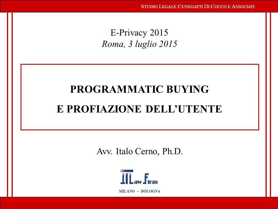 2 R ELATORE : Avv.Italo Cerno, Ph.D.