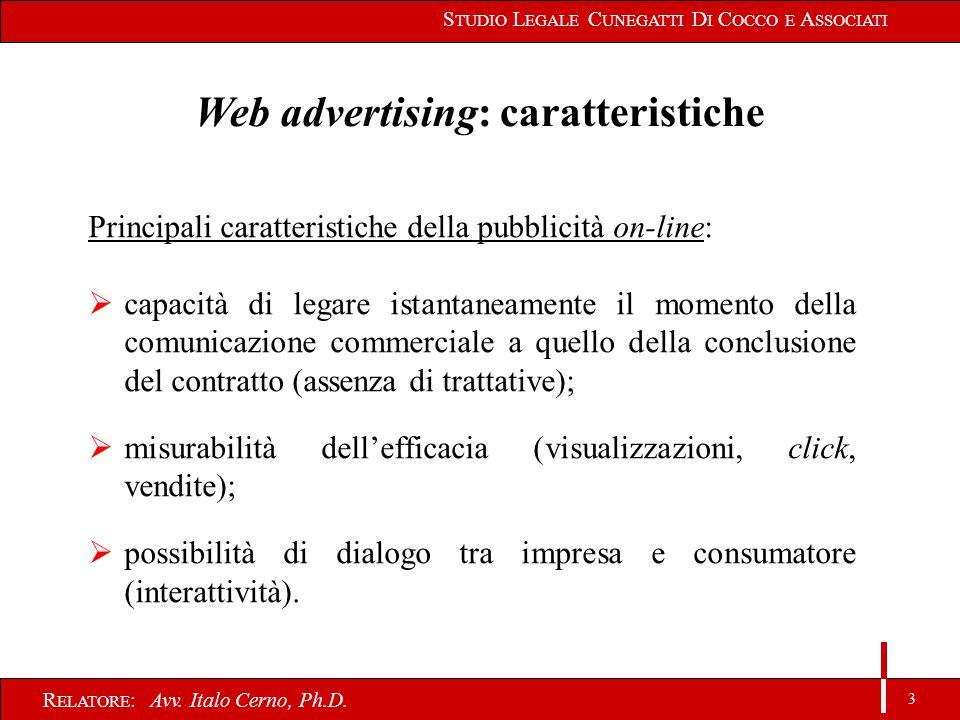 3 R ELATORE : Avv. Italo Cerno, Ph.D.