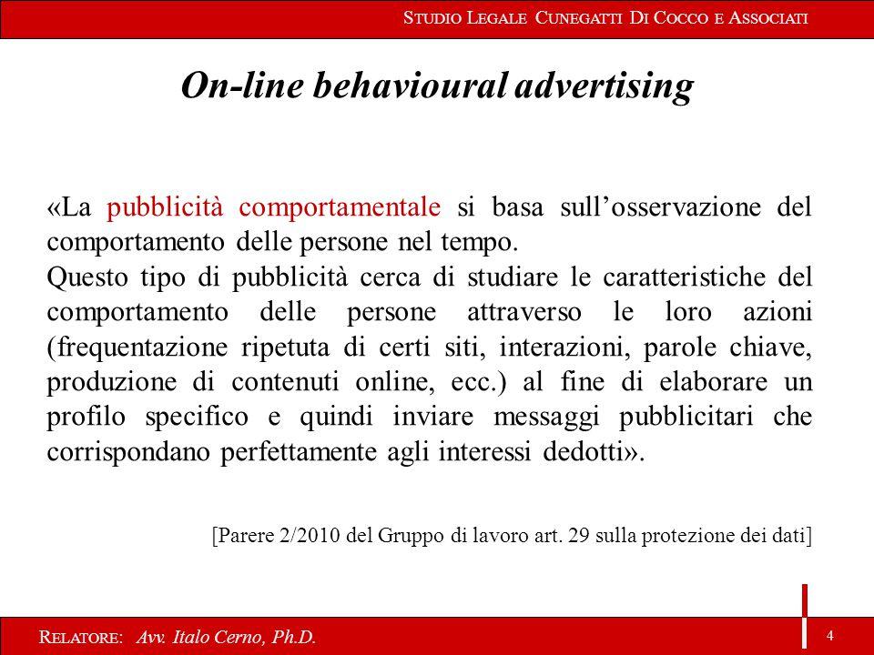 4 R ELATORE : Avv. Italo Cerno, Ph.D.