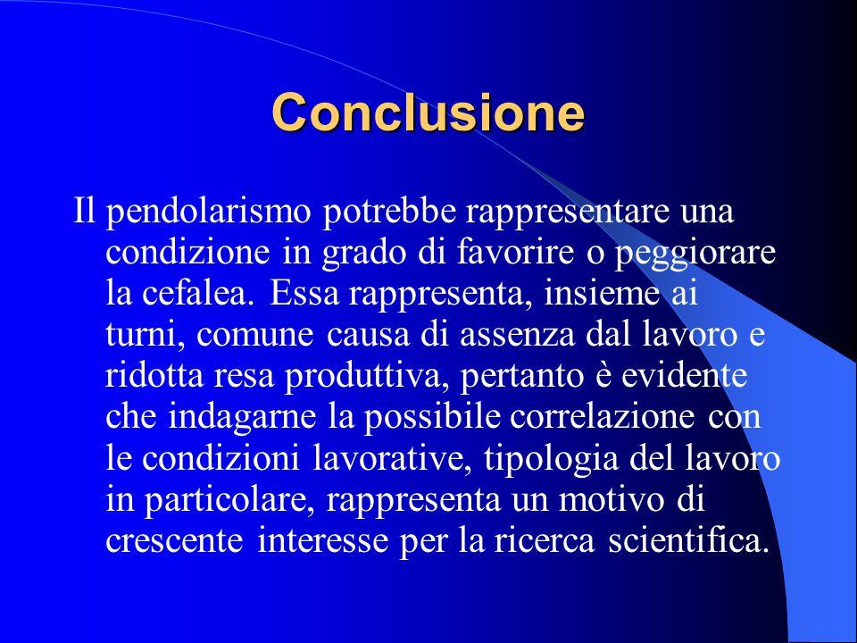 Discussione (2) L'emicrania invece, sembra essere connessa ad una diseccitabilità latente, conseguenza di una disfunzione geneticamente determinata de