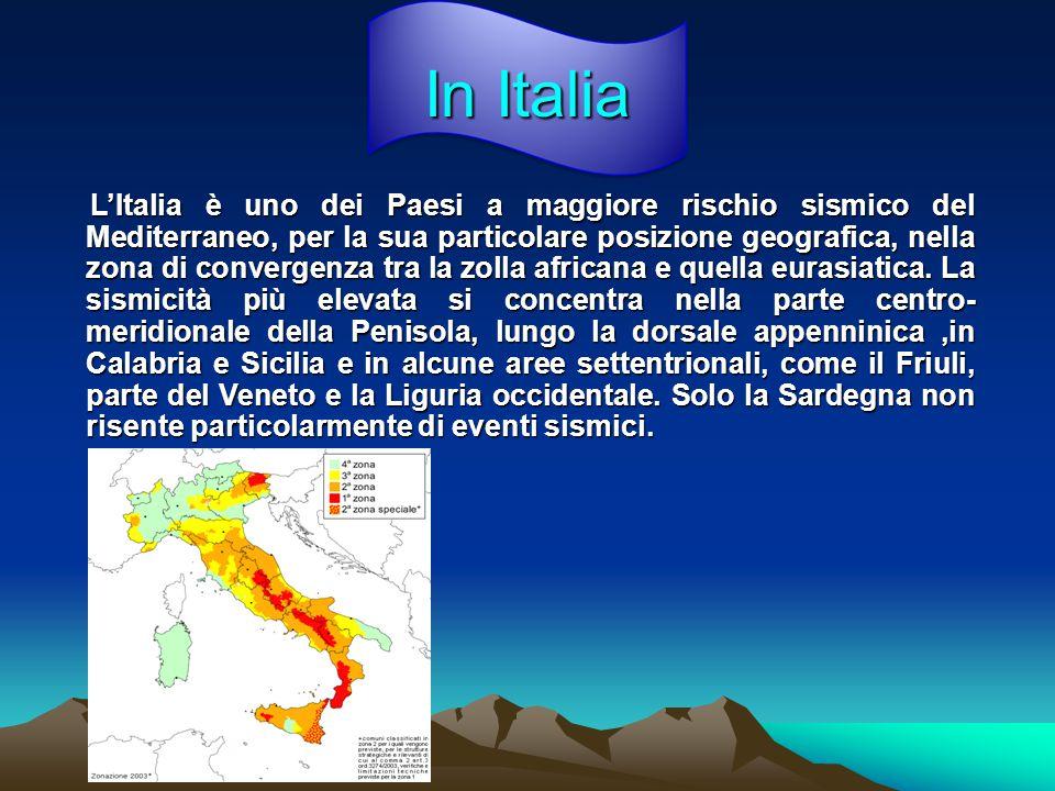 In Italia L'Italia è uno dei Paesi a maggiore rischio sismico del Mediterraneo, per la sua particolare posizione geografica, nella zona di convergenza tra la zolla africana e quella eurasiatica.