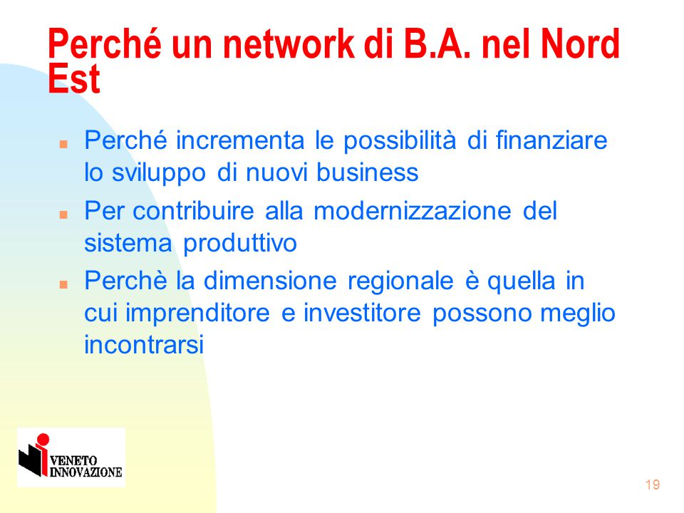 18 I Business Angels: una risposta possibile .