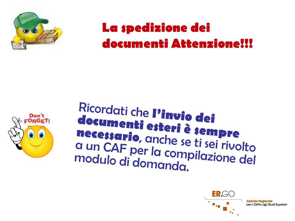 21 La spedizione dei documenti Attenzione!!.