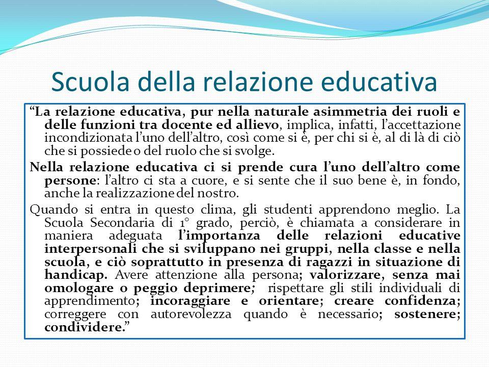"""""""La relazione educativa, pur nella naturale asimmetria dei ruoli e delle funzioni tra docente ed allievo, implica, infatti, l'accettazione incondizion"""