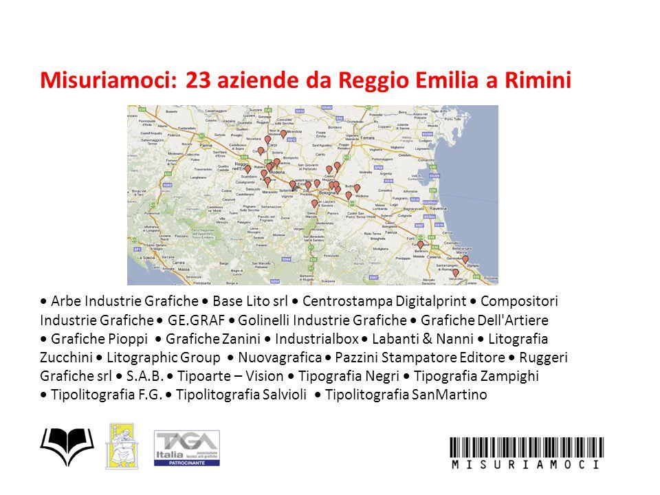 Misuriamoci: 23 aziende da Reggio Emilia a Rimini  Arbe Industrie Grafiche  Base Lito srl  Centrostampa Digitalprint  Compositori Industrie Gr