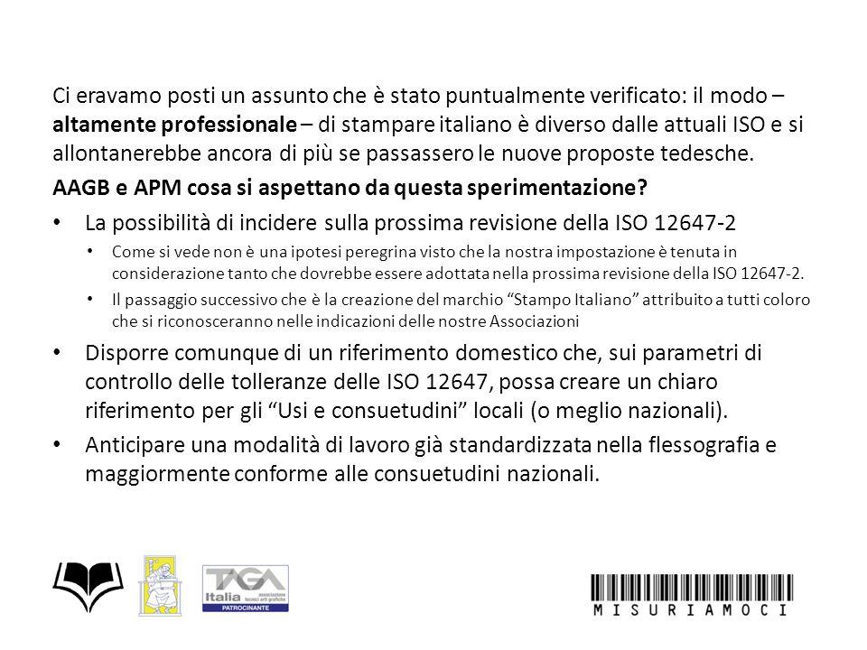 Ci eravamo posti un assunto che è stato puntualmente verificato: il modo – altamente professionale – di stampare italiano è diverso dalle attuali ISO