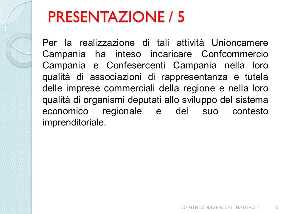 PRESENTAZIONE / 4 Pertanto l'Unioncamere Campania ha ritenuto necessario, in un'ottica di recupero e miglioramento delle performance commerciali, porr