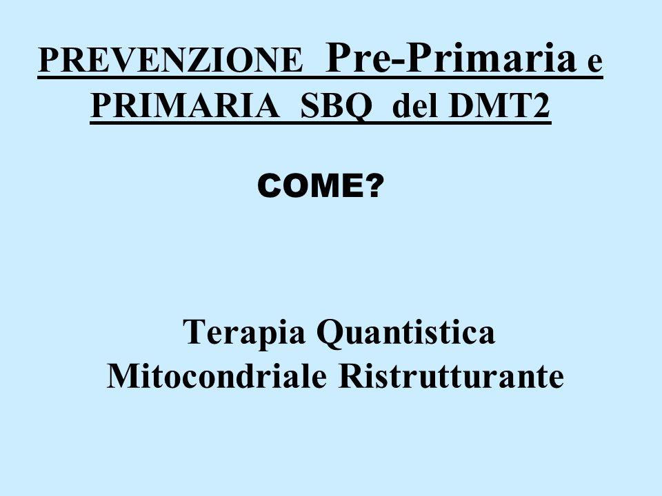 PREVENZIONE Pre-Primaria e PRIMARIA SBQ del DMT2 COME.