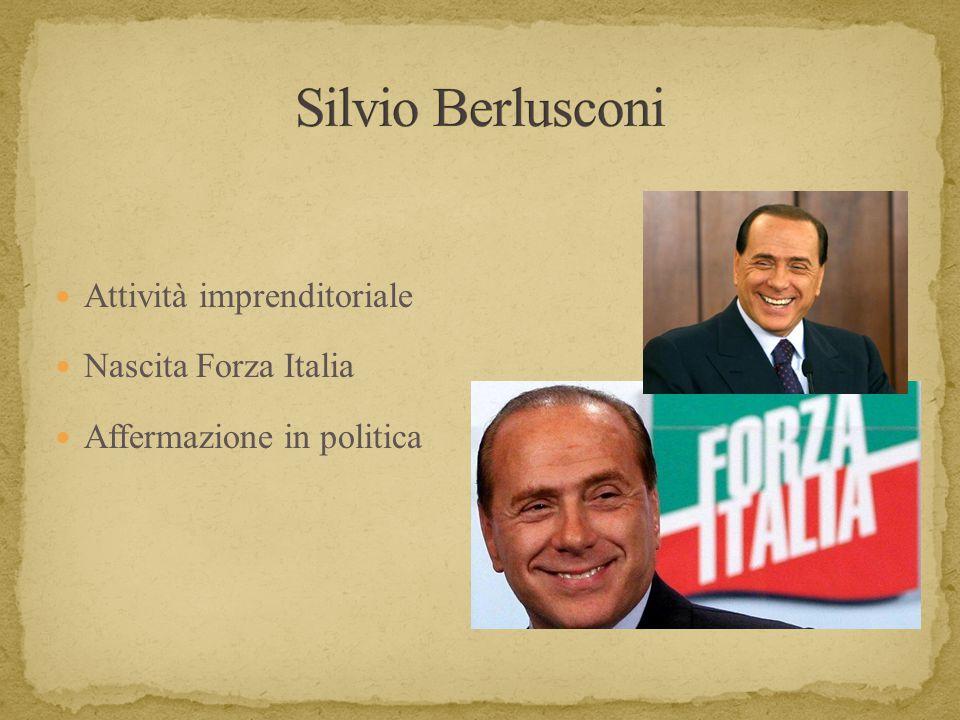 Attività imprenditoriale Nascita Forza Italia Affermazione in politica