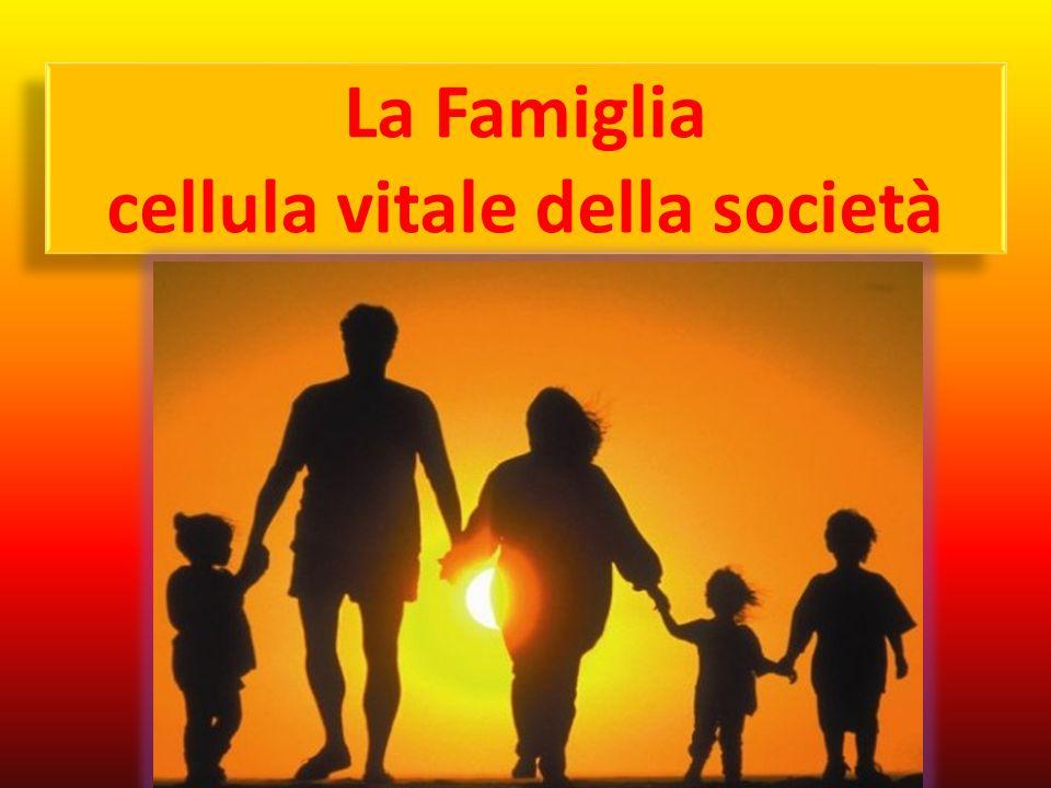 Compiti della Famiglia 1.La formazione degli individui e di una comunità di persone 2.Il servizio e l'apertura alla vita 3.La partecipazione allo sviluppo della società 4.La partecipazione alla vita e alla missione della Chiesa