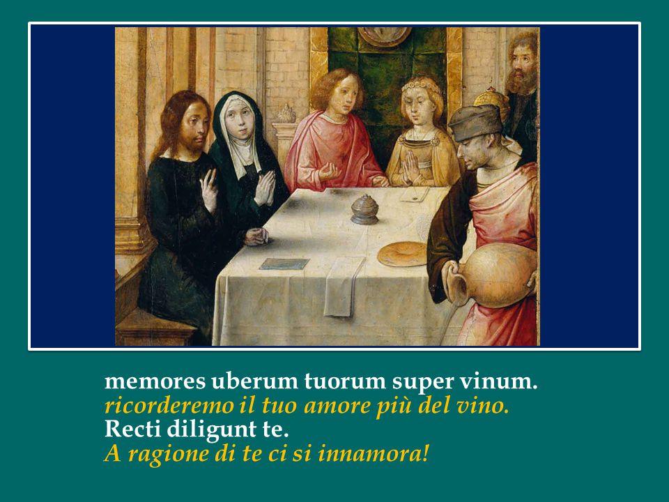 memores uberum tuorum super vinum.ricorderemo il tuo amore più del vino.