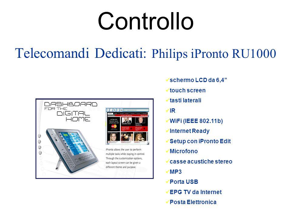 Controllo Telecomandi Dedicati: Philips iPronto RU1000 schermo LCD da 6,4'' touch screen tasti laterali IR WiFi (IEEE 802.11b) Internet Ready Setup co