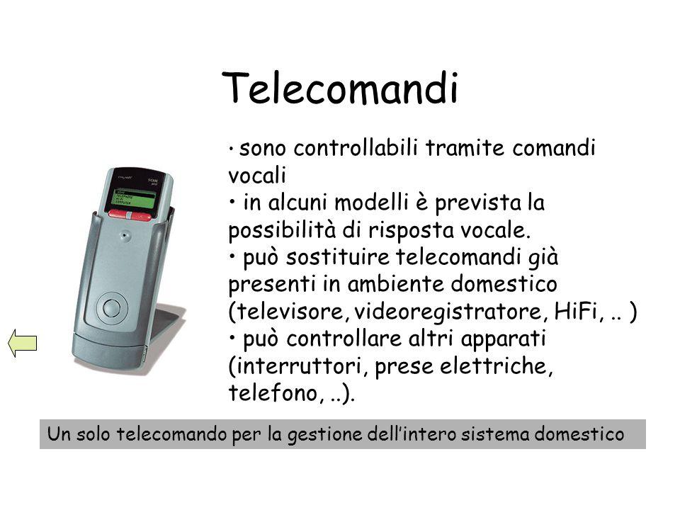 Telecomandi sono controllabili tramite comandi vocali in alcuni modelli è prevista la possibilità di risposta vocale. può sostituire telecomandi già p