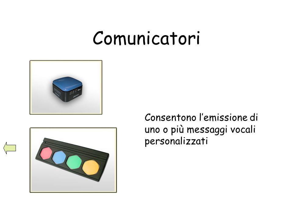 Comunicatori Consentono l'emissione di uno o più messaggi vocali personalizzati