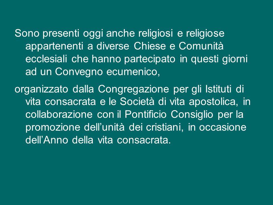 Inoltre, mi è gradito salutare i membri della Commissione mista per il dialogo teologico tra la Chiesa cattolica e le Chiese ortodosse orientali, ai quali auguro un fruttuoso lavoro per la sessione plenaria che si svolgerà nei prossimi giorni a Roma.