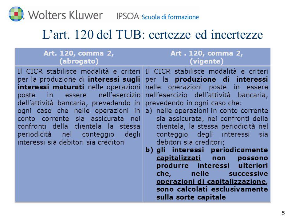 L'art. 120 del TUB: certezze ed incertezze 5