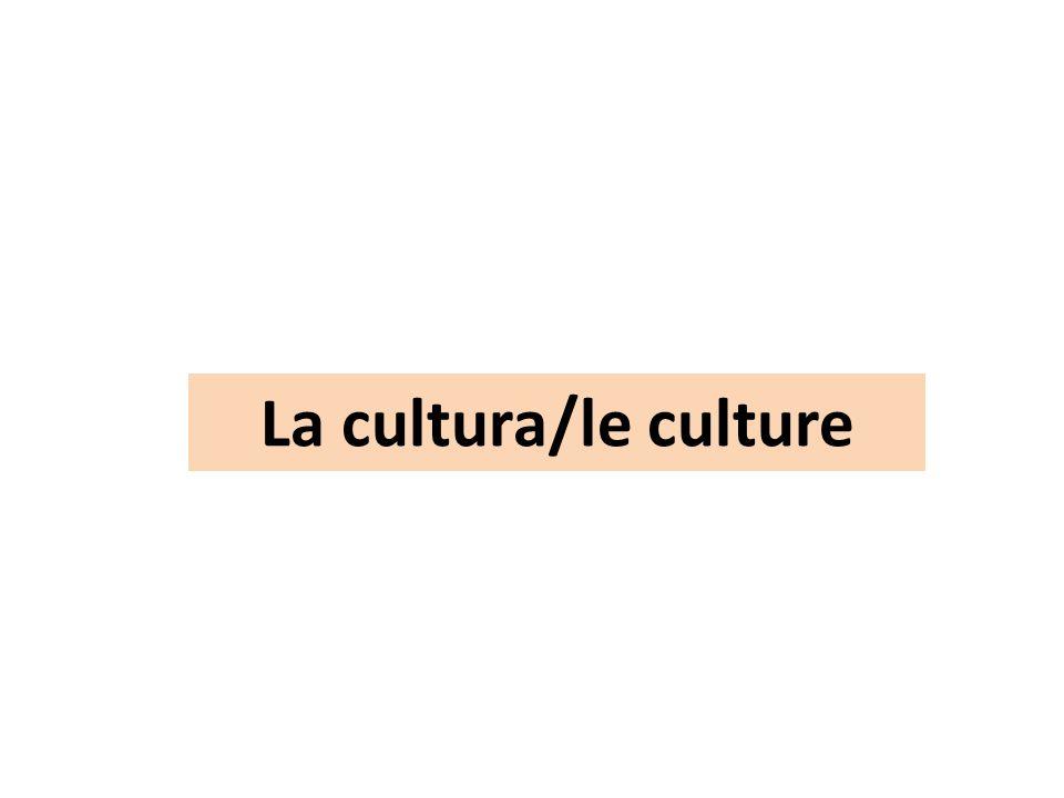 La cultura/le culture