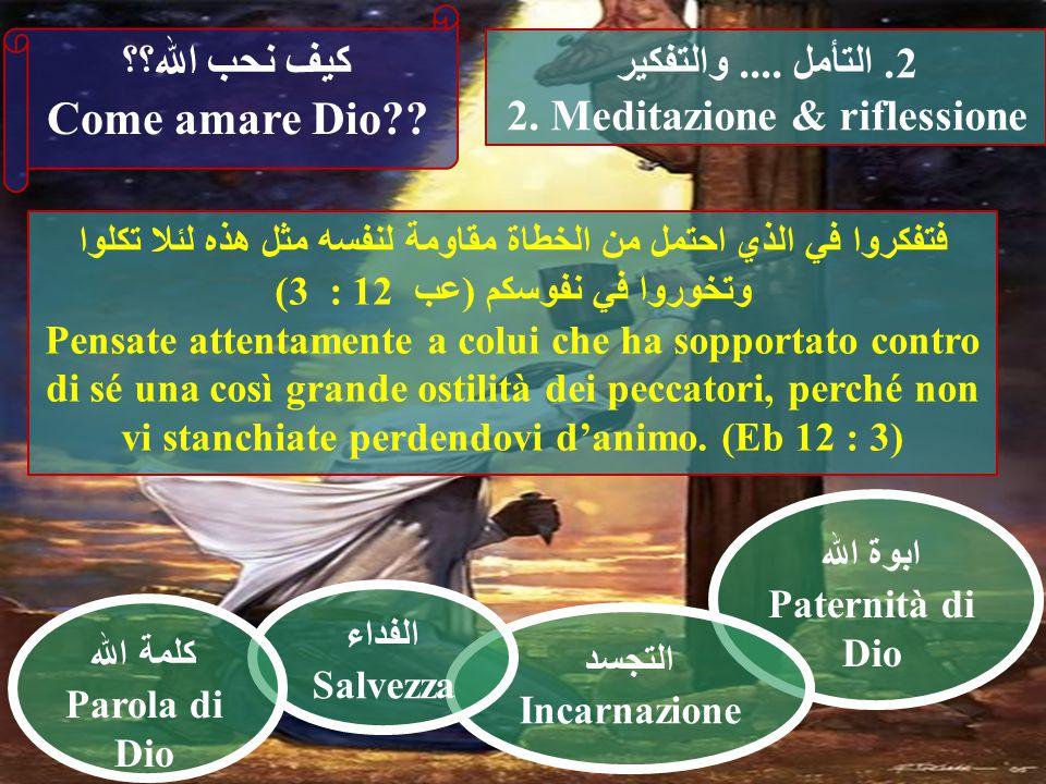 ابوة الله Paternità di Dio التجسد Incarnazione 2. التأمل....