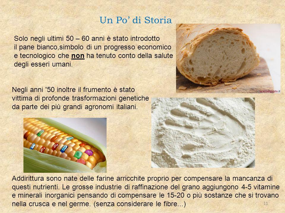 Solo negli ultimi 50 – 60 anni è stato introdotto il pane bianco,simbolo di un progresso economico e tecnologico che non ha tenuto conto della salute