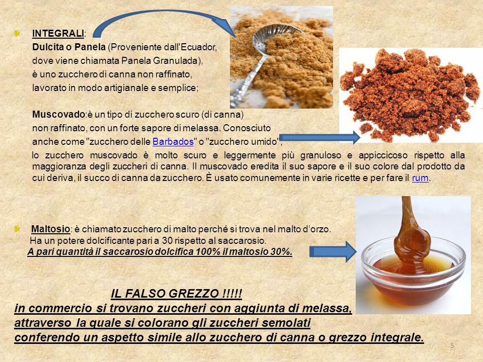 INTEGRALI: Dulcita o Panela (Proveniente dall'Ecuador, dove viene chiamata Panela Granulada), è uno zucchero di canna non raffinato, lavorato in modo