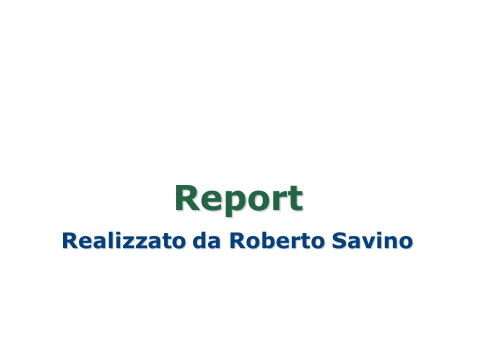 Report Realizzato da Roberto Savino