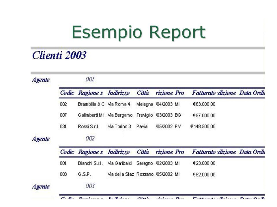 Realizzato da Roberto Savino 70 Esempio Report