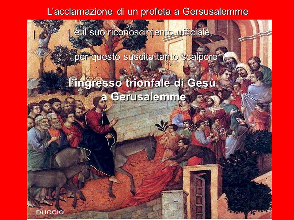 GERUSALEMME arrivare alla città della santità, della giustizia, della casa di Dio.
