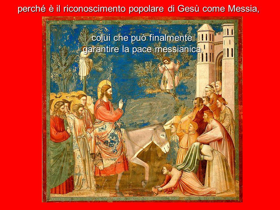 L'acclamazione di un profeta a Gersusalemme per questo suscita tanto scalpore l'ingresso trionfale di Gesù a Gerusalemme è il suo riconoscimento ufficiale,