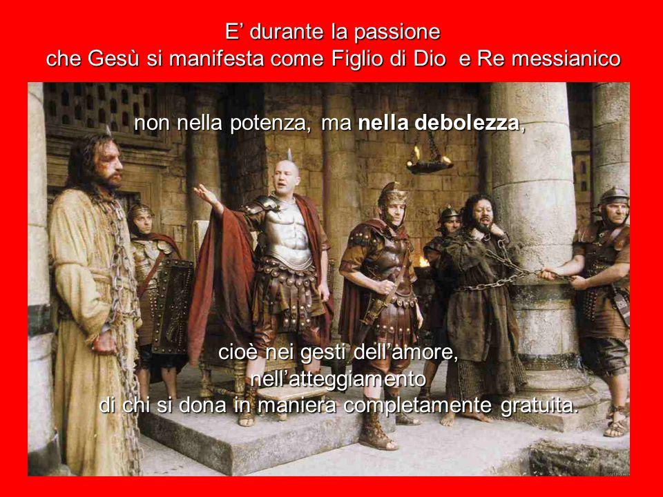 come spiega Gesù stesso, quando istituisce l'Eucaristia: Questo è il mio sangue, il sangue dell'alleanza,versato per il mondo (14,24).