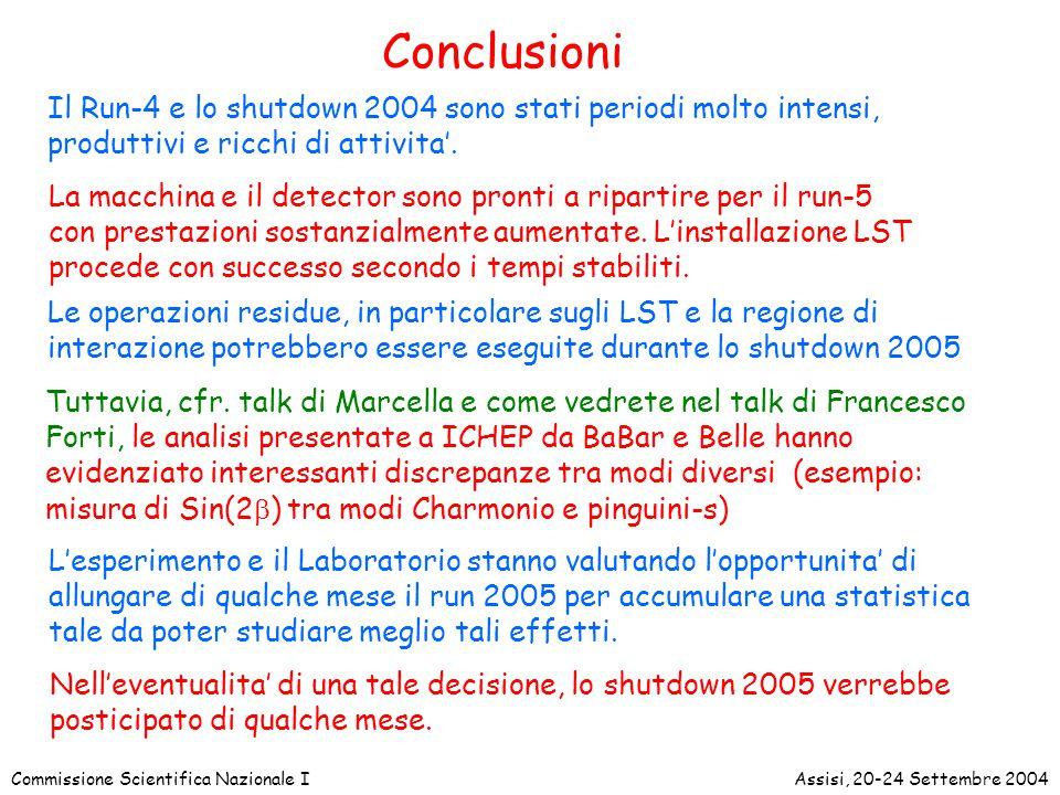 Commissione Scientifica Nazionale IAssisi, 20-24 Settembre 2004 Tuttavia, cfr.