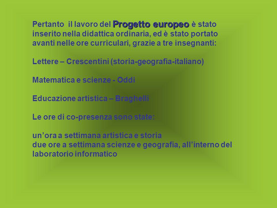 Nel 2003/2004 Nel 2003/2004 dopo la visita di progettazione del 2003 a Murcia, il lavoro dei docenti di lettere ed artistica ha preso l'avvio dallo studio delle origini della città di Terni, dalla protostoria al Medioevo.