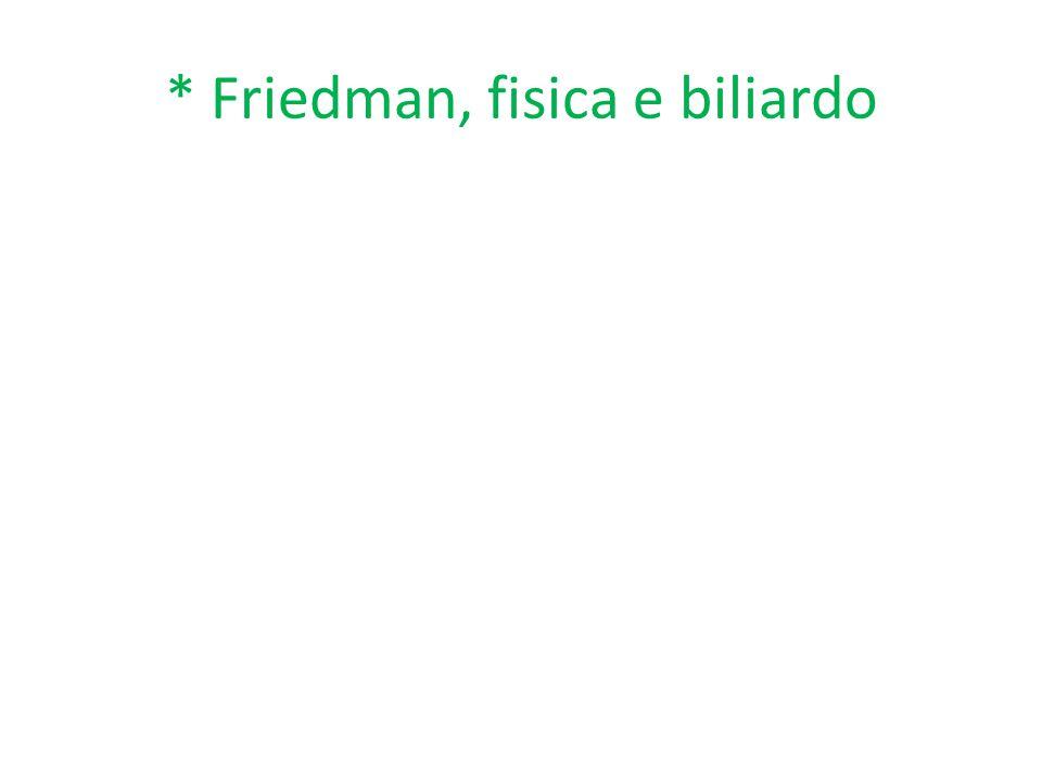 * Friedman, fisica e biliardo