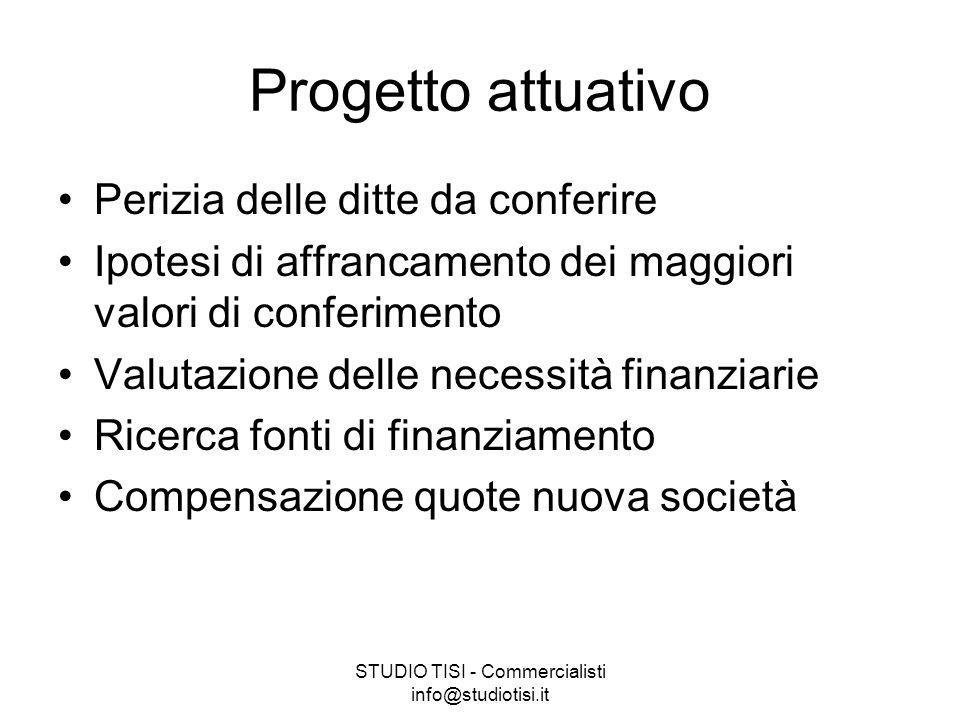 STUDIO TISI - Commercialisti info@studiotisi.it Perizia delle ditte da conferire Valutare obbligo di perizia, chi può farla?