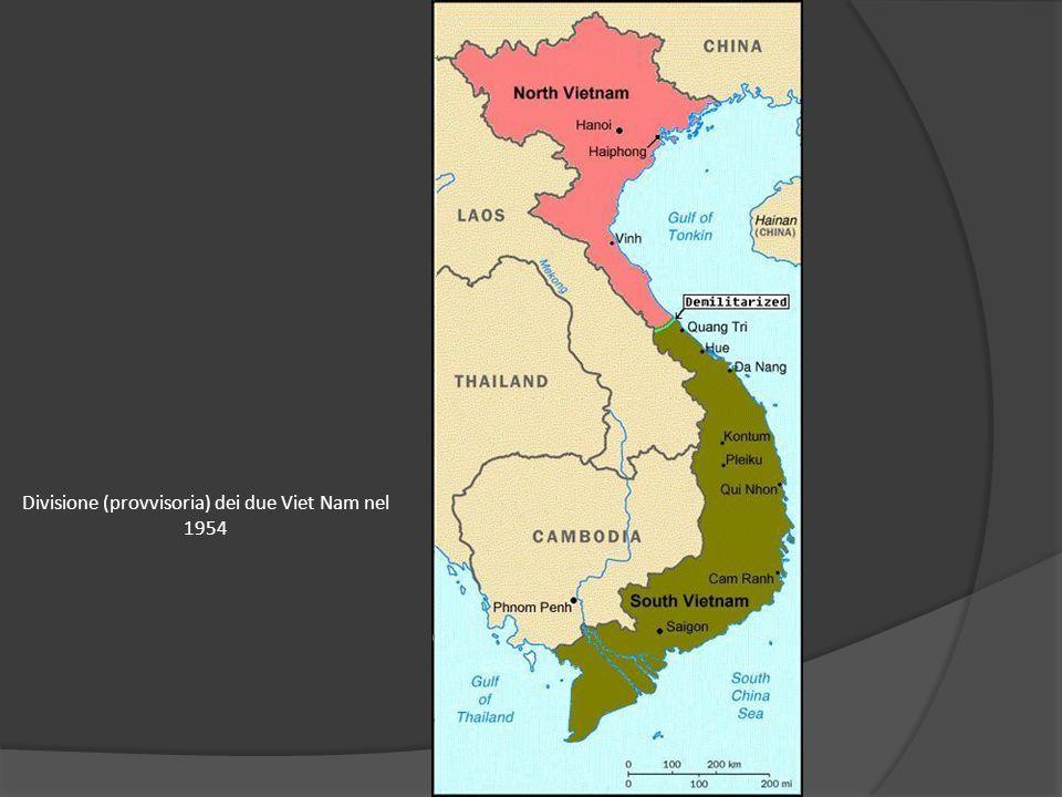 Divisione (provvisoria) dei due Viet Nam nel 1954