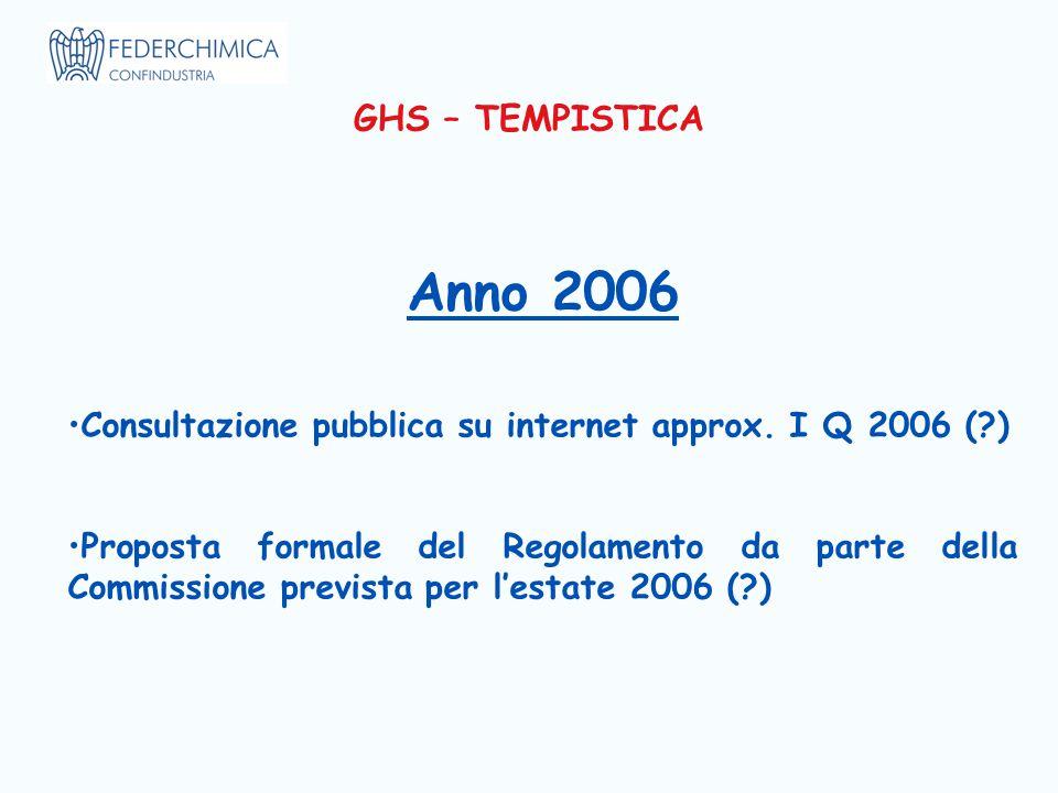 Anno 2006 Consultazione pubblica su internet approx.