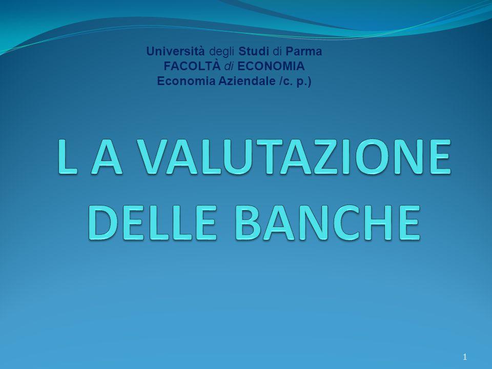 Università degli Studi di Parma FACOLTÀ di ECONOMIA Economia Aziendale /c. p.) 1