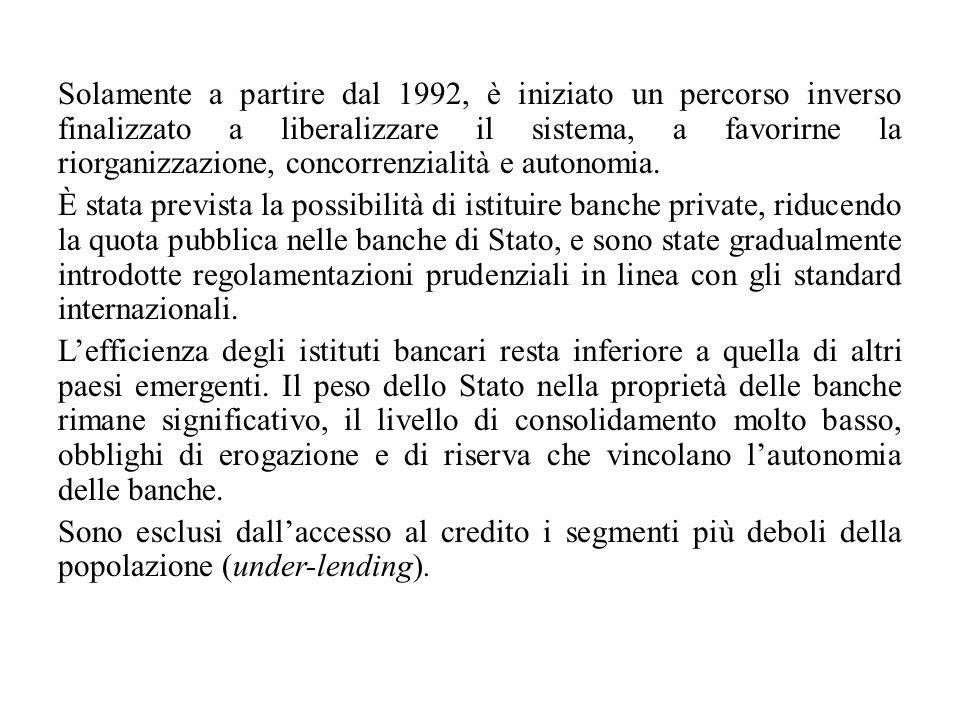 Solamente a partire dal 1992, è iniziato un percorso inverso finalizzato a liberalizzare il sistema, a favorirne la riorganizzazione, concorrenzialità e autonomia.