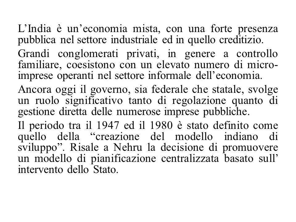 Le riforme economiche varate nel 1991 e i positivi effetti dell' accresciuta integrazione del paese nel sistema internazionale hanno favorito la valorizzazione delle sue potenzialità, così da determinare, in due decenni, un aumento del PIL di quasi quattro volte.