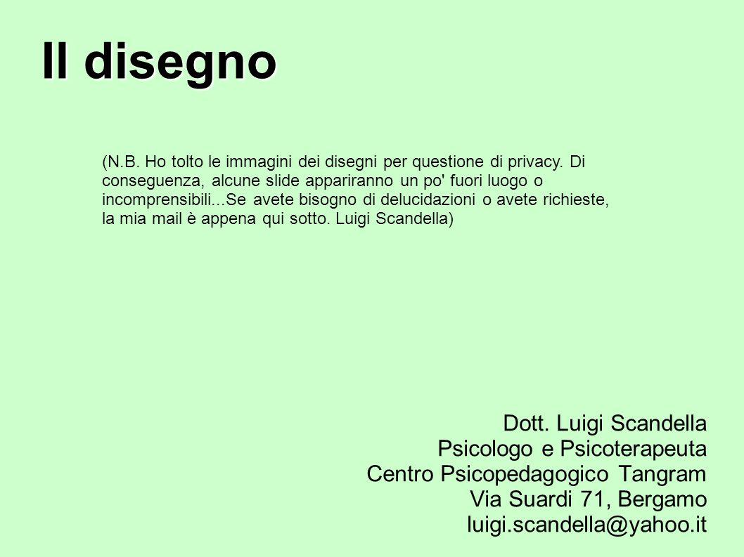 Il disegno Dott. Luigi Scandella Psicologo e Psicoterapeuta Centro Psicopedagogico Tangram Via Suardi 71, Bergamo luigi.scandella@yahoo.it (N.B. Ho to