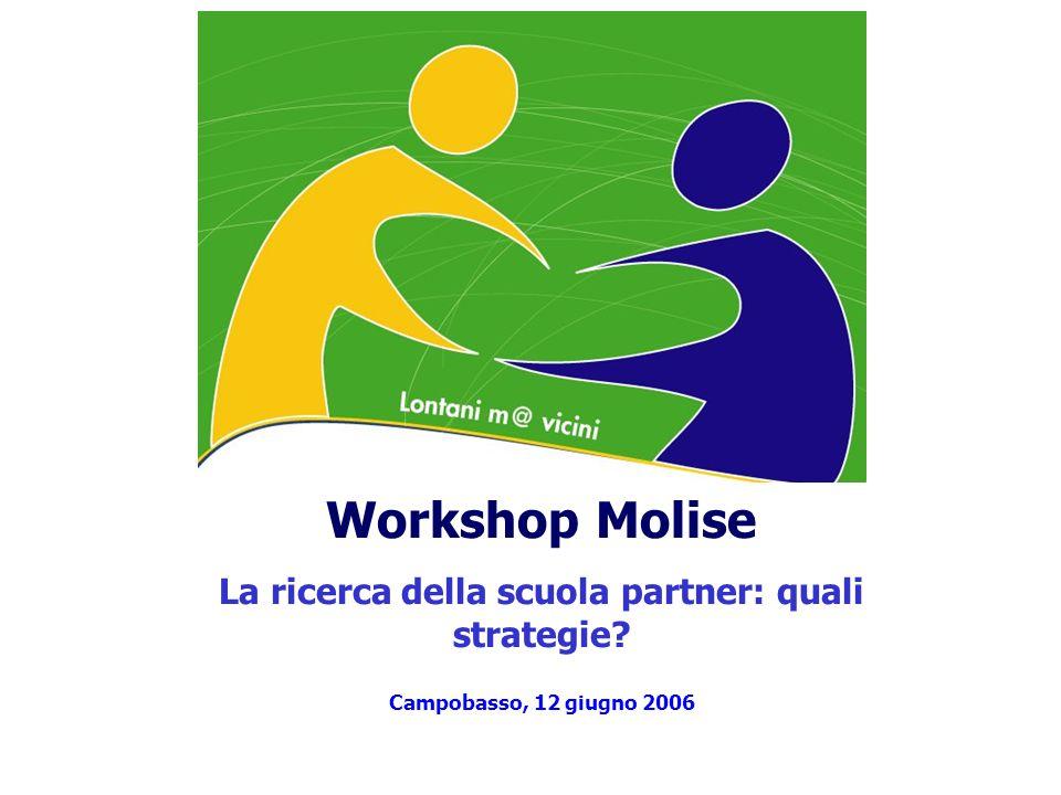 Workshop Molise La ricerca della scuola partner: quali strategie? Campobasso, 12 giugno 2006