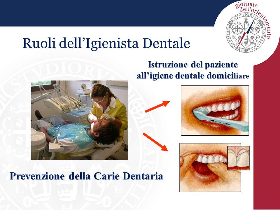 Ruoli dell'Igienista Dentale Prevenzione della Carie Dentaria Istruzione del paziente all'igiene dentale domici liare