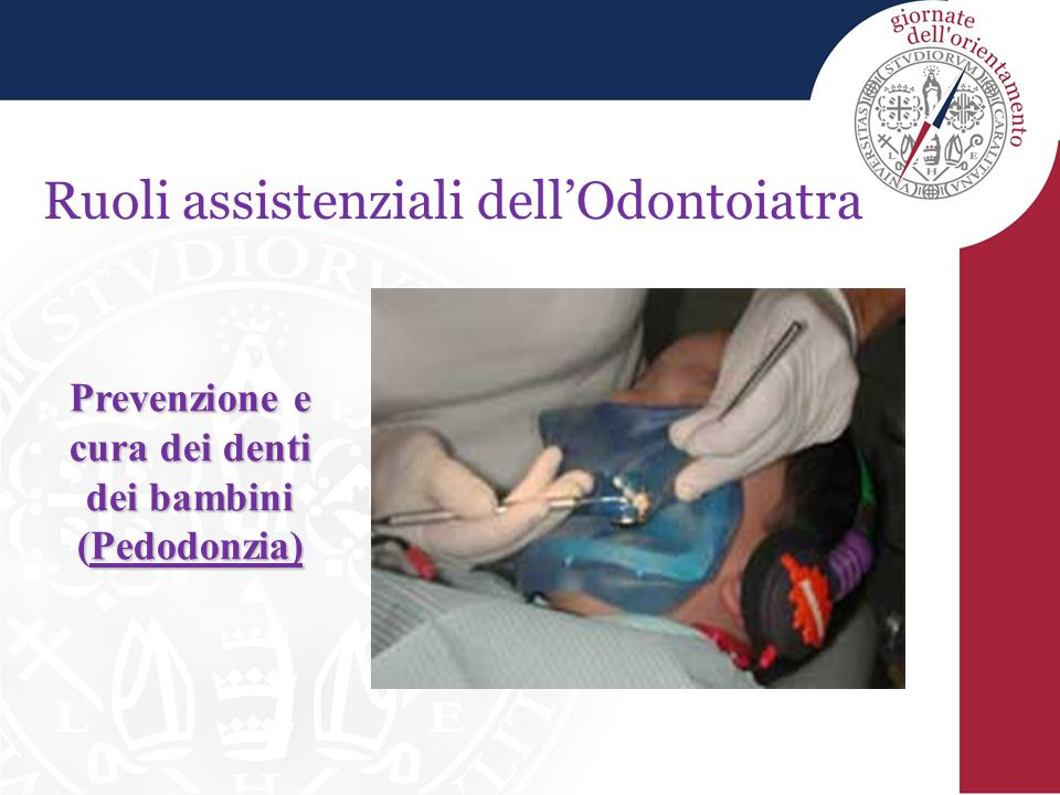 Accesso al Corso di Laurea in Odontoiatria Test selettivo N° di posti: 17 Luglio 2013